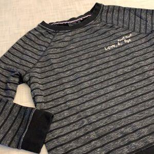 Nanette striped raglan sweatshirt